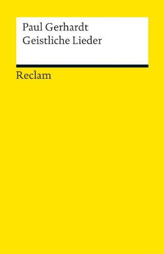 Geistliche Lieder (Reclams Universal-Bibliothek)
