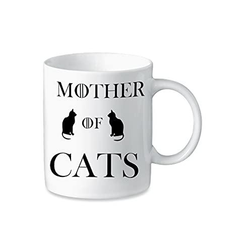 Tazza Mother of Cats - Game of Thrones Parodia - Tazza in Ceramica di Alta Qualità