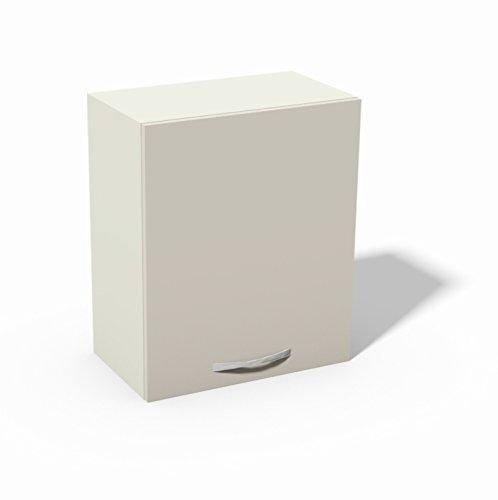 Pensile per Cucina componibile cm L60 1 Anta - Modello Quadra Colore Bianco Opaco - possibilità di personalizzare il colore