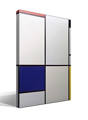 Cuadro Canvas Tabla I con Rojo, Negro, Azul y Amarillo de Mondrian - 70 x 95cm