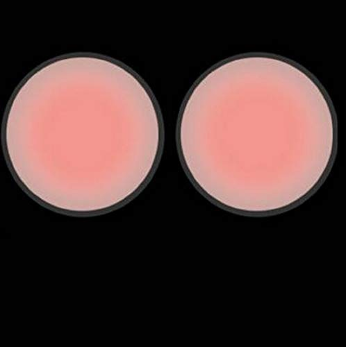 EgBert 10 Paare Selbstklebende Wiederverwendbare unsichtbare Klassische herzförmige Silikon Gel Nippel Abdeckungen Pad für Nippel Abdeckungen für Frauen Herren Badeanzug Runde