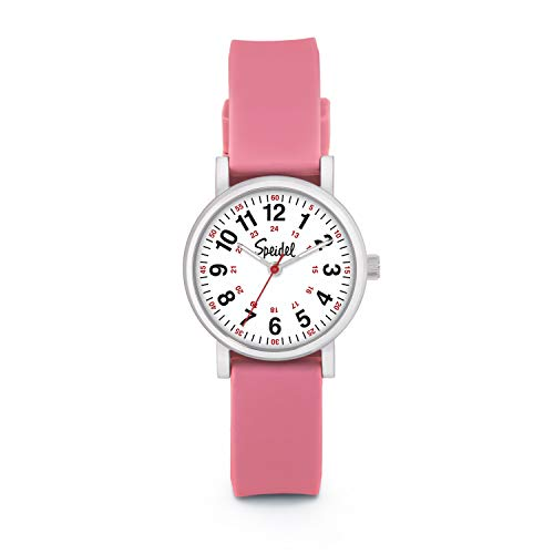 Speidel Women's Pink Scrub Petite Watch for Medical Professionals - Easy to Read Small Face,...