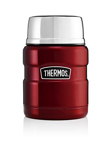 Picture of Thermos 184807 Stainless King Food Flask, Red, 470 ml