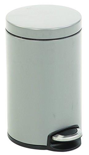 EKO Poubelle à Pédale Métal Inox 32,5 x 24,8 x 40 cm 12 litres