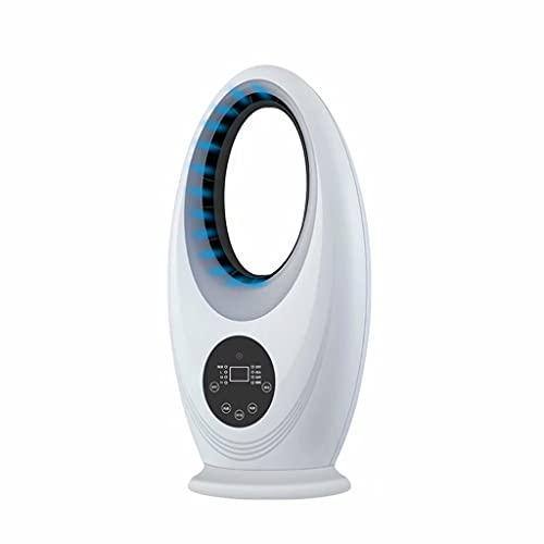 SJZD Ventilador sin aspas Ventilador de Piso para el hogar Ventilador de Torre silencioso pequeño Ventilador eléctrico de Control Remoto Vertical, 3 velocidades