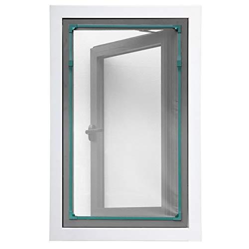 XGXQBS DIY Magnetische Fly Screen Fenster, Verstellbar Insect Mesh Mosquito Net Für Fenster Entfernbar Waschbar Fliegengitter Fenster-Green Frame 100x125cm(39x49inch)