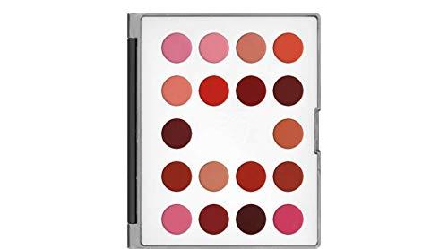 Kryolan 9026_LC Lip Rouge Mini-Palette 18 Farben Sortierung LC