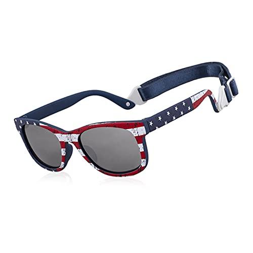 TUEWDFSA Gafas de Sol Gafas de Sol Infantil para bebés para Chicos con Correas Ajustables 0-24 Meses Producto al Aire Libre (Objektiv-Farbe : C6 Flag)