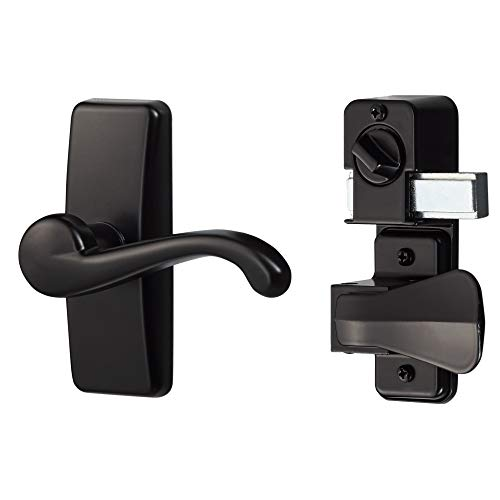 Ideal Security HK357DB05BL GL Lever Set for Storm and Screen Doors with Deadbolt, Black