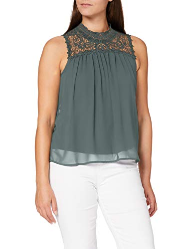 ONLY Damen ONLNEW CAT S/L TOP WVN NOOS Bluse, Grün (Balsam Green), 36