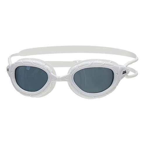 Zoggs Predator, Occhialini da Nuoto Unisex Adulto, Bianco/Smoke