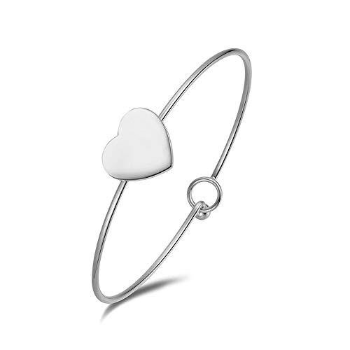 Emma gioielli–pulsera para mujer Rígida de acero de alta calidad Corazón Corazón Moda Amor Love–caja de regalo