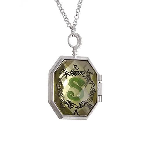 Harry Potter Peripheral Jewelry Slytherin Horcrux Colgante Collar De Aleación Collar De Caja Que Se Puede Abrir