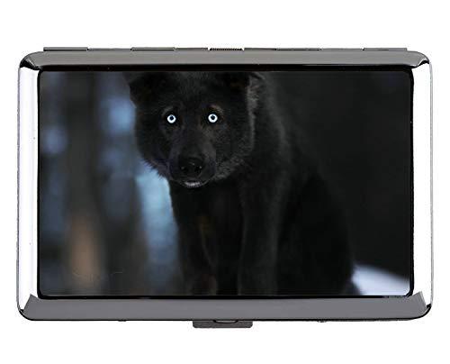 Portadocumenti e portasigarette, cuccioli di cane cane lupo cane Titolare della carta di credito aziendale (taglia King)