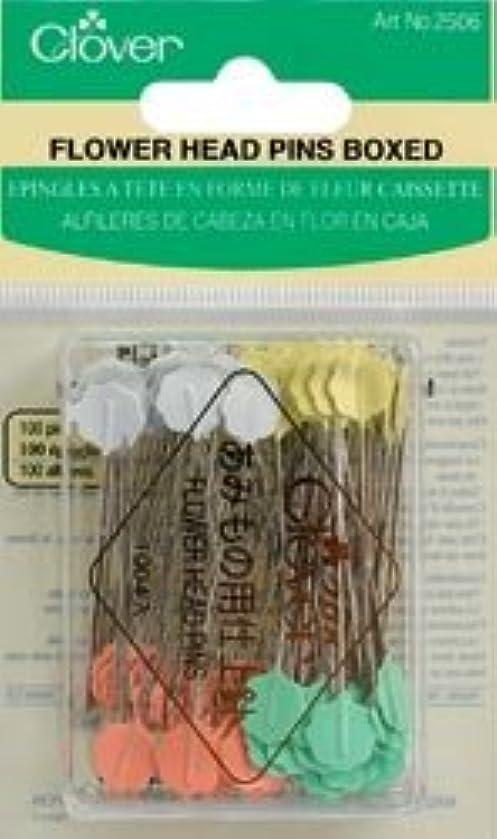 Bulk Buy: Clover Flower Head Pins 100/Pkg Q2506 (2-Pack)