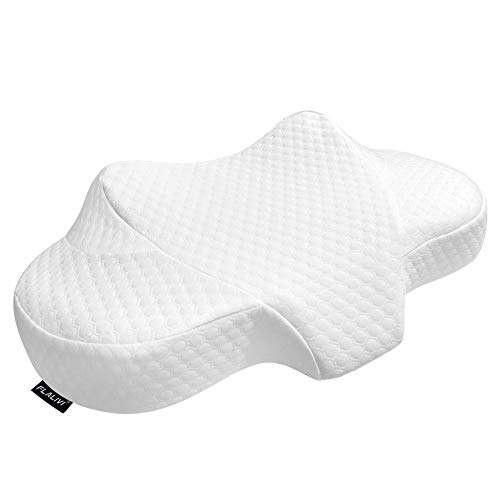 Flalivi Cervical Pillow Memory Foam Pillow,Orthopedic Sleeping Pillow ,Contour Pillows for Neck and Shoulder Pain, Ergonomic Neck Support Pillow for Side Sleepers, Back and Stomach Sleepers