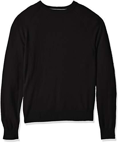 Amazon Brand - Buttoned Down Men's 100% Premium Cashmere Crewneck Sweater, Black, Large