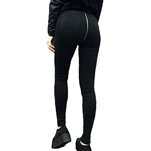 Donna Jeans Vita Alta Skinny Pantaloni Pantaloncini Jeggings Sexy Moda Posteriore Cerniera Dritti Elasticizzati Denim