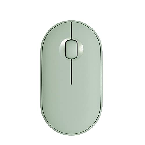 SXPSYWY Adecuado para Pebble Pebble M350 Wireless Bluetooth Mouse Silent Office Mouse-Verde