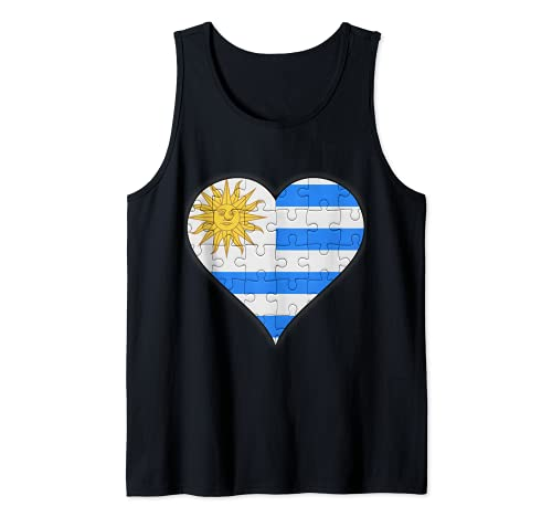 Corazón de la bandera uruguaya Camiseta sin Mangas