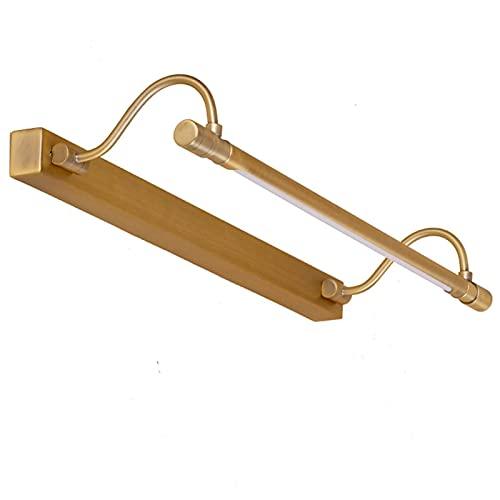 Lámpara De Pared Led Retro con Luz De Espejo De Cobre, Accesorio De Iluminación con Espejo para Tocador, para Dormitorio, Baño, Tocador (Color: 53 Cm)