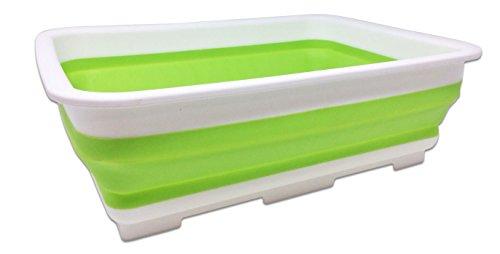 Faltbar Abwasch-Schüssel, Tragbar Camping-Schüssel, 10 Liter - Stark und Stabil - Faltschüssel perfekt für den Abwasch, die Reinigung, alle Aktivitäten im Freien, zu Hause oder in der Küche