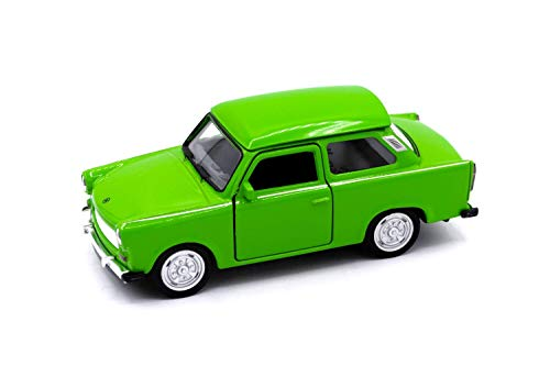 Welly-OOTB Original lizenziert Trabant 601 Modell-Auto DDR Trabbi Maßstab 1:60 Modell Auto, Sammlerstück (Grün)