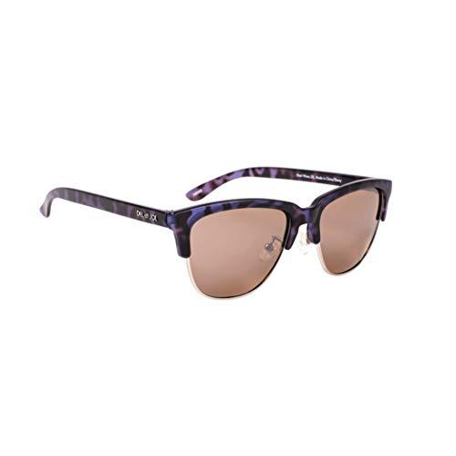 Del Sol Solize - Gafas de sol que cambian de color para mujer, onda de calor, cambia de color de tortuga a ébano en el sol, polarizadas Pro, lente espejada, 100% protección UVA/UVB