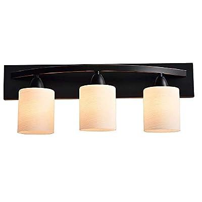 WholesalePlumbing 3 Bulb Vanity Light Fixture Bath Interior Lighting, Oil Rubbed Bronze (Oil Rubbed Bronze)