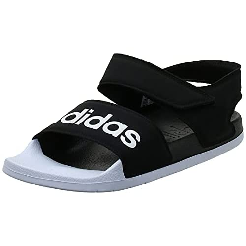 Adidas Adilette Sandal, Scarpe da Ginnastica Unisex-Adulto, Core Black/Ftwr White/Core Black, 44.5 EU