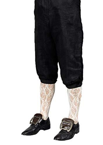 Karneval-Klamotten Kniebundhose Herren schwarz Karneval Mittelalter Baron Rokoko Herren-Kostüm