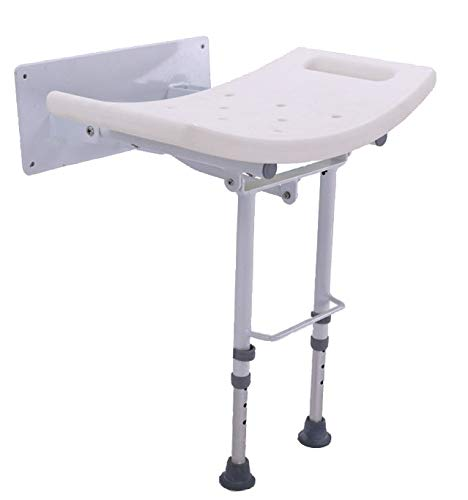 OrtoPrime Duschsitz mit Beinen – Duschstuhl, rutschfest, klappbar, höhenverstellbar, Badhocker