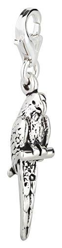 Charm Anhänger Papagei aus 925 Sterling Silber