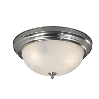 """Nuvo 2 Light 10/"""" Carport Flush Mount With Textured Frosted Glass 60-471"""
