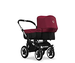 Bugaboo Donkey 2 Mono, 2 In 1 Pram and Pushchair, Extends Into Double Stroller, Black/Ruby Red (B07HN3M815) | Amazon price tracker / tracking, Amazon price history charts, Amazon price watches, Amazon price drop alerts