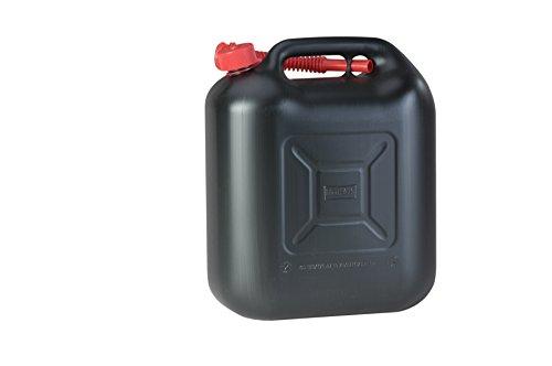 Kraftstoff-Kanister STANDARD 20l für Benzin, Diesel und andere Gefahrgüter, UN-Zulassung, made in Germany, TÜV-geprüfter Produktion, schwarz