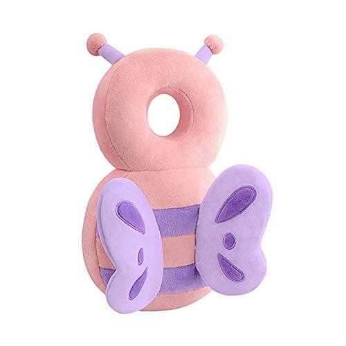 Protector para la cabeza del bebé con correas ajustables para recién nacidos, hombros, casa, primeros pasos de infancia, cojín de golpes para aprender a caminar (Butterfly)