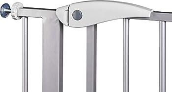 ib style- Berrin Barrière de sécurité 75-175 cm | Auto-Close | 90°Arrêt | utilisation à une main|Blanc-gris 95-105cm
