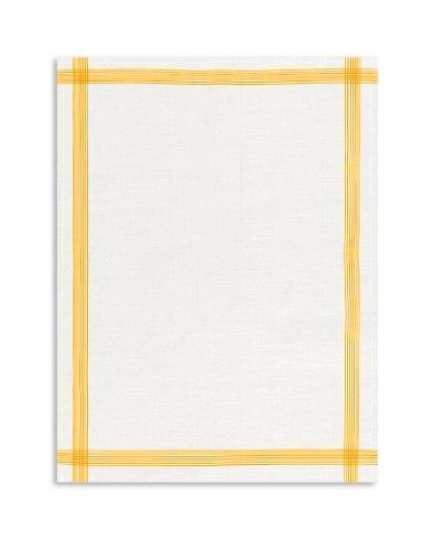 KRACHT, Leinen Geschirrtuch, Gläsertuch, 60x80cm (gelb)