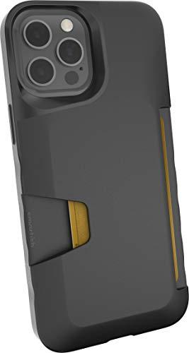Smartish iPhone 12 Pro Max Wallet Case - Wallet Slayer Vol. 1 [Slim + Protective] Credit Card Holder (Silk) - Black Tie Affair