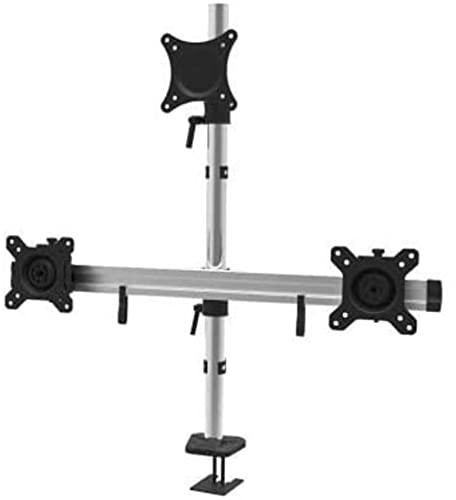 38 cm ~ 68 cm monitor de tres pantallas de aleación de aluminio de grado completo marco de mesa de sujeción / indicador triple
