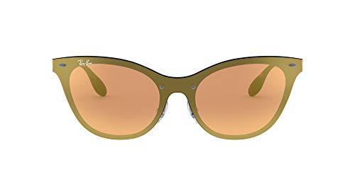 Ray-Ban 0RB3580N Gafas de sol, Marrón, 49 para Mujer