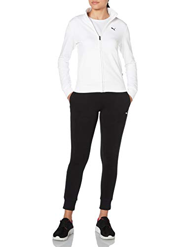 PUMA Damen Classic Sweat Suit cl TR Trainingsanzug, White, S
