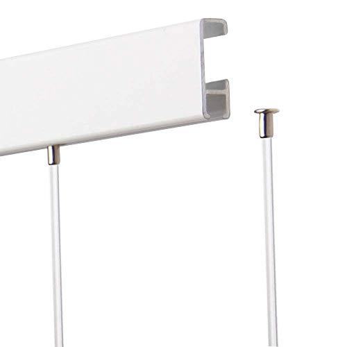 SOFT-RAIL® 10 St. Perlonseile 2,00 m, mit Tellergleiter, Ø 2,0 mm, für Galerieschienen