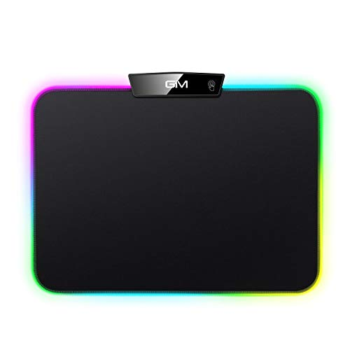 RGB LED Gaming Mouse Pad,GIM LED Mouse Pad Mad with 15 Lighting Modes,...