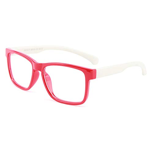 Vesmondo kinderbril antiblauw licht brilmontuur complete bril zonder sterkte siliconen groot klassiek brilmontuur voor jongens meisjes tieners met brillenkoker