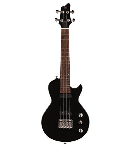 Vorson FLPUK-2 LP-Style Electric Ukulele with Gig Bag, Black