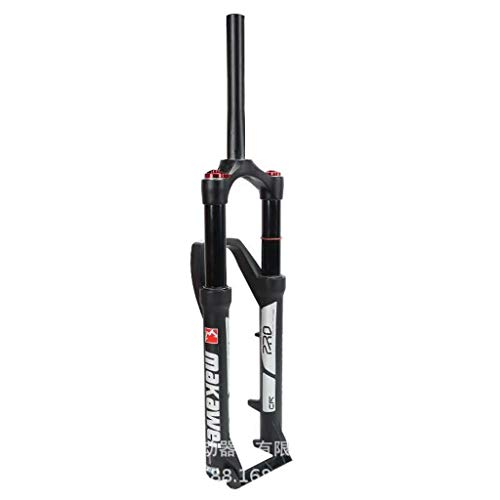 LSRRYD Suspensión MTB Aire Horquilla Suspensión para Bicicleta 26/27.5/29 Pulgadas Tubo Recto 1-1/8' Remoto Bloqueo Manual Recorrido 120mm Freno Disco Eje 9mmQR (Color : A-Black, Size : 26in)