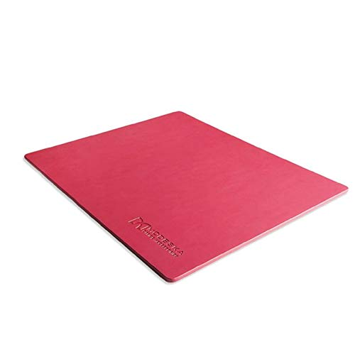 """Modeska 10.3""""x 8.3"""" Leather Mouse Pad - SKIDSTOP Ultra Smooth Small Executive Blotter and Gaming Mousepad for Office, School, Home, Remote Business- Pink"""