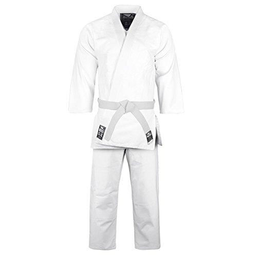 Bad Boy Initiate Judo Kimono para Hombre - IJK, 120 cm, Blanco Brillante
